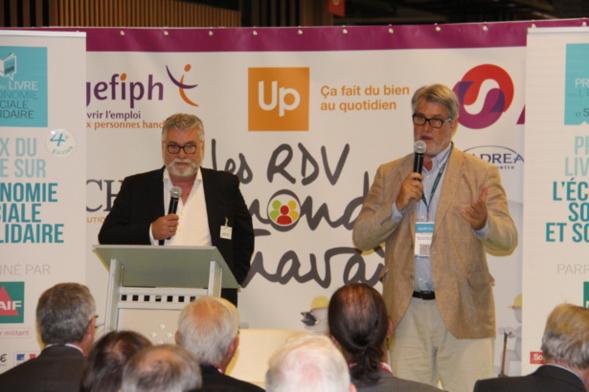 Patrick Gobert a rappelé le soutien de SalonsCE pour les événements créés par le Toit Citoyen - Photo : Jean-Paul Berger.