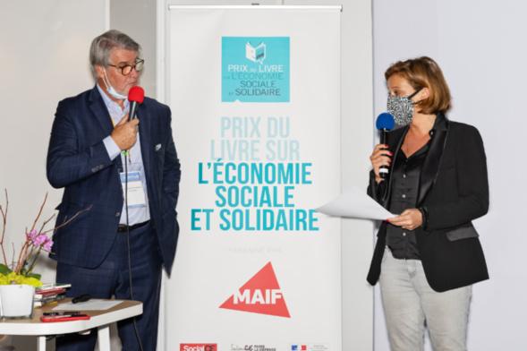 Olivia Grégoire, ministre chargée de l'Economie sociale et solidaire, a salué l'engagement du Toit Citoyen, le parrain du prix et les jurés présents - photo : Jacques Martin -