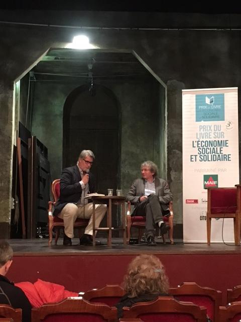 Duo sur la scène magistrale du Théâtre de l'Atelier - Photo Toit Citoyen -