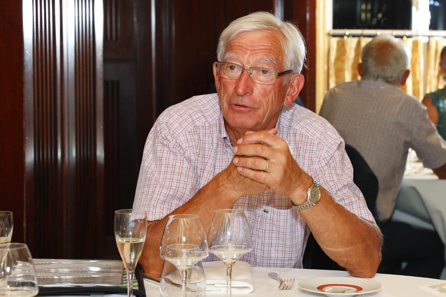 Le président Roger Belot s'est félicité de ce dîner réussi avec deux ouvrages de qualité - Photo : Jacques Martin -