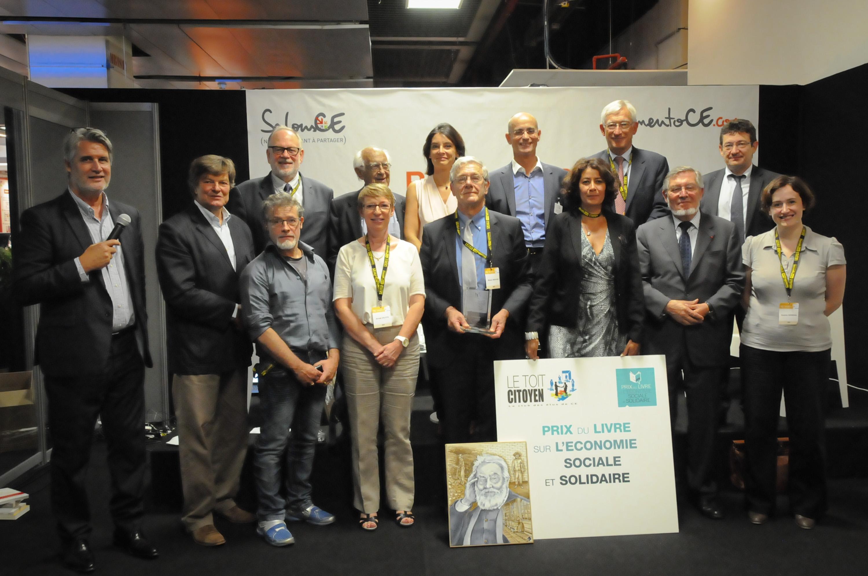 En l'absence de Philippe Fremeaux, seul Michel Dreyfus a reçu son prix en compagnie du Jury et devant un nombreux public.
