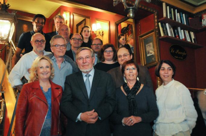 Derrière Jean Auroux, Violaine Touet de CE IB Cegos dont c'était la première participation en tant que jurée - Photo Catherine Cros