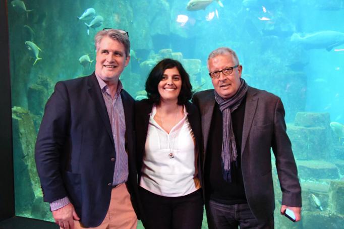 Patrick Gobert était très heureux d'avoir permis la rencontre de Karim avec la minsitre - photo Catherine Cros -