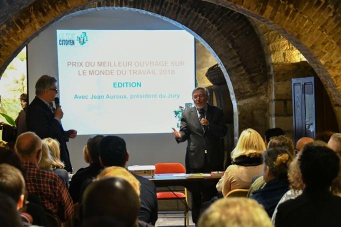 Jean Auroux a exprimé son plaisir a présider le jury depuis la création du Prix devant de nombreux participants - Photo Catherine Cros -