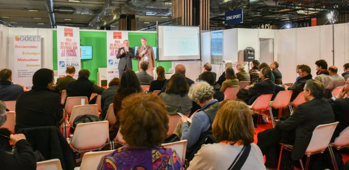 Jean Auroux et Patrick Gobert lance,t la 8ième édition du Prix du Meilleur Ouvrage sur le Monde du Travail. Photo : Catherine Cros