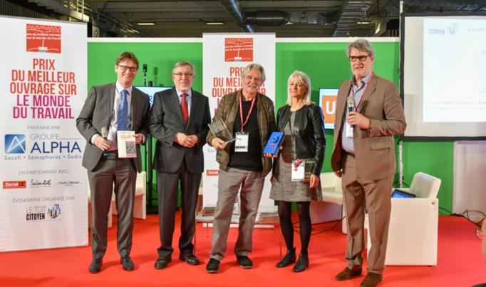 De gauche à droite : Alain Petitjean, Vincent de Gaulejac, Anmarie Léon et Patrick Gobert. Photo : Catherine Cros.