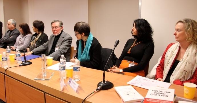 Une partie des deux jurys réunis lors de la remise du Prix
