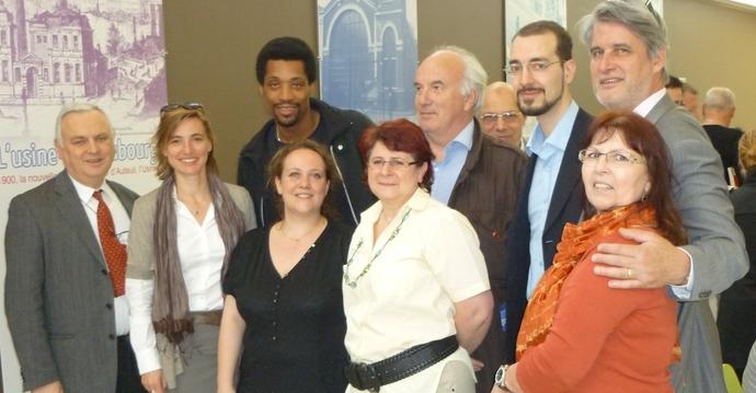 L'équipe du Prix, quelques membres du jury CE et Vincent Talaouit en avril 2011