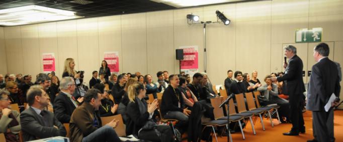 Espace des Rencontres du Dialogue Social dans le cadre de SalonsCE - Cnit Paris-La Défense - 4 février 2015 - photo : Catherine Cros