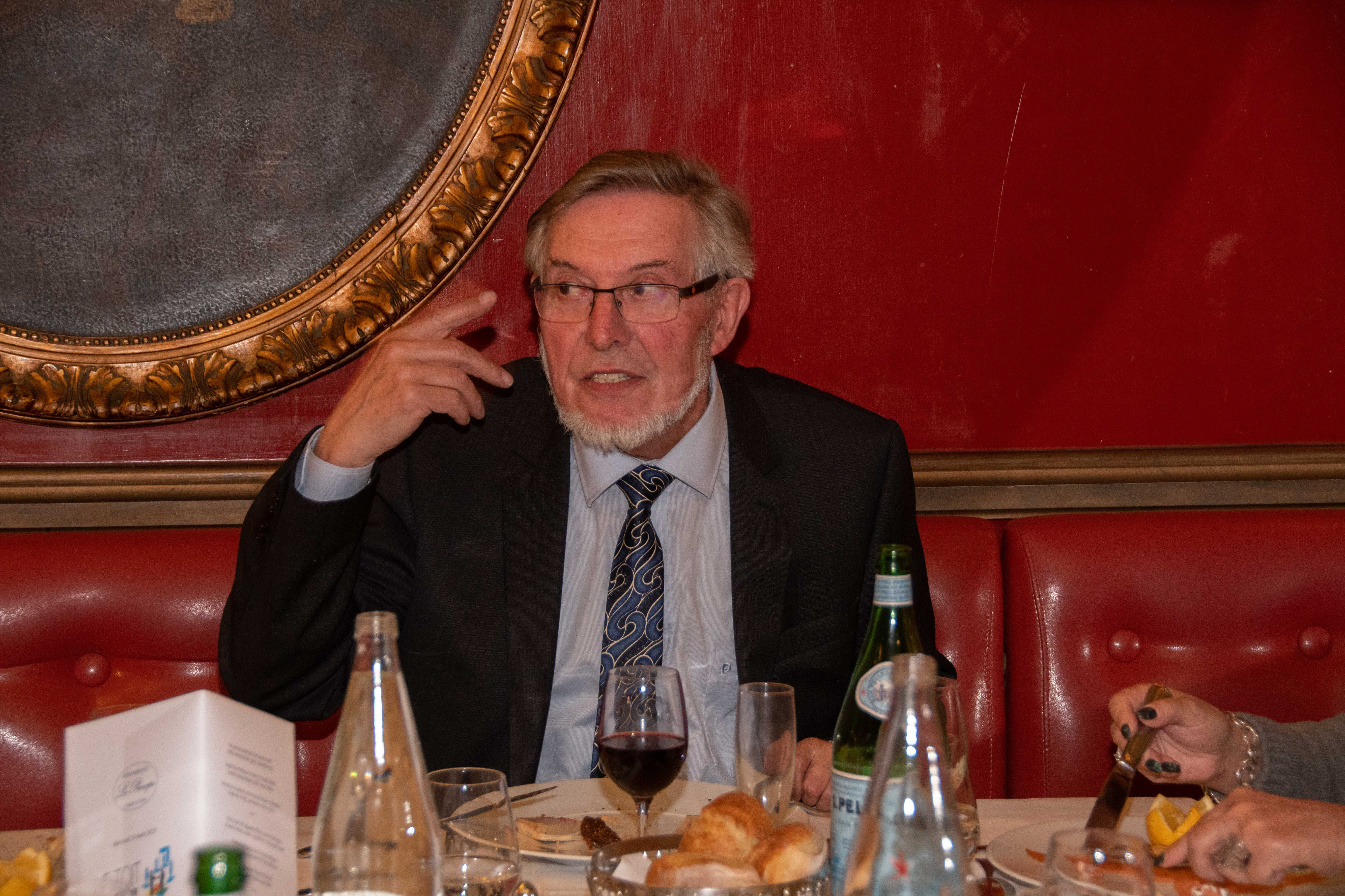 Jean Auroux, un président toujours aussi passionné ! Photo Catherine Cros