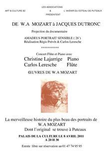 """Offre réservée aux adhérents : """"Amadeus portrait sensible""""  (8 avril 2011)"""