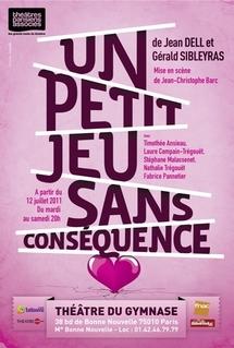 """Tarifs préférentiels pour """"Un petit Jeu sans conséquence"""""""