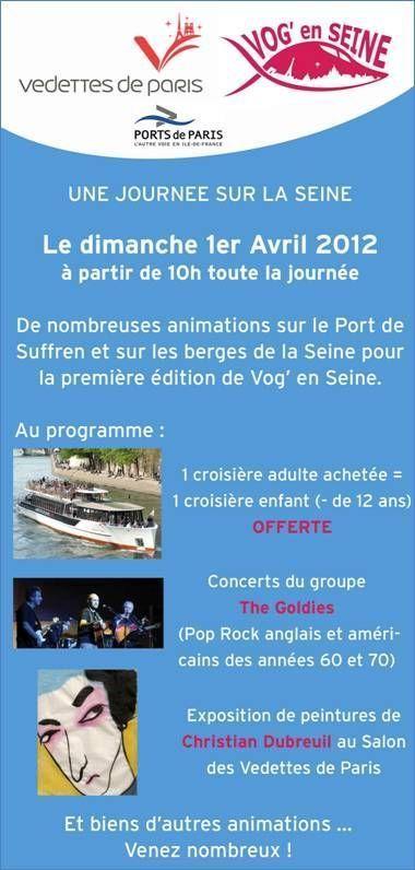 Venez aux Vedettes de Paris le 1er Avril pour la fête de la Seine