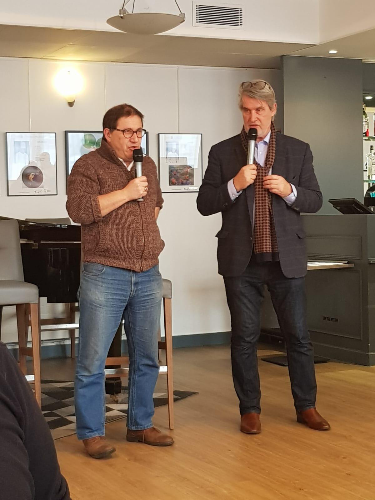 A la suite de sa première intervention au musée du vin en novembre, Max Leguem, fondateur de l'ENA des Cités, est revenu sur ses difficultés à pérenniser la formation qu'il propose dans le cadre de la fédération des MJC. Photo : Tomy