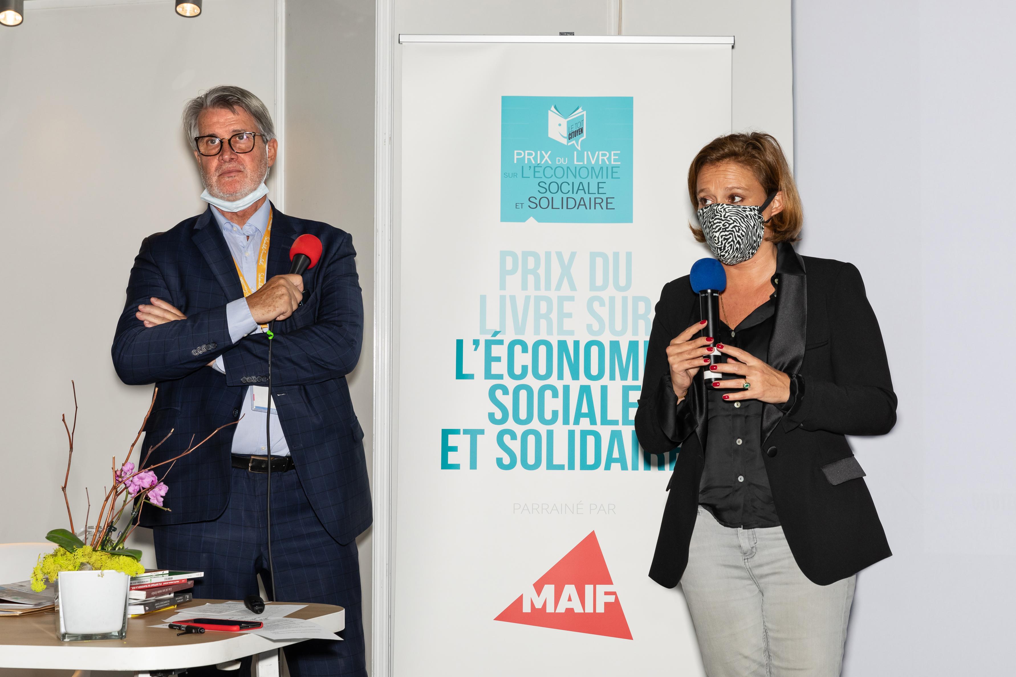 La ministre déléguée à l'Economie Sociale et Solidaire, Olivia Grégoire, a honoré de sa présence la 7 ème édition du Prix du Livre sur l'ESS ! Toutes les photos sur le Blog www.toitcitoyen.com/economiesociale